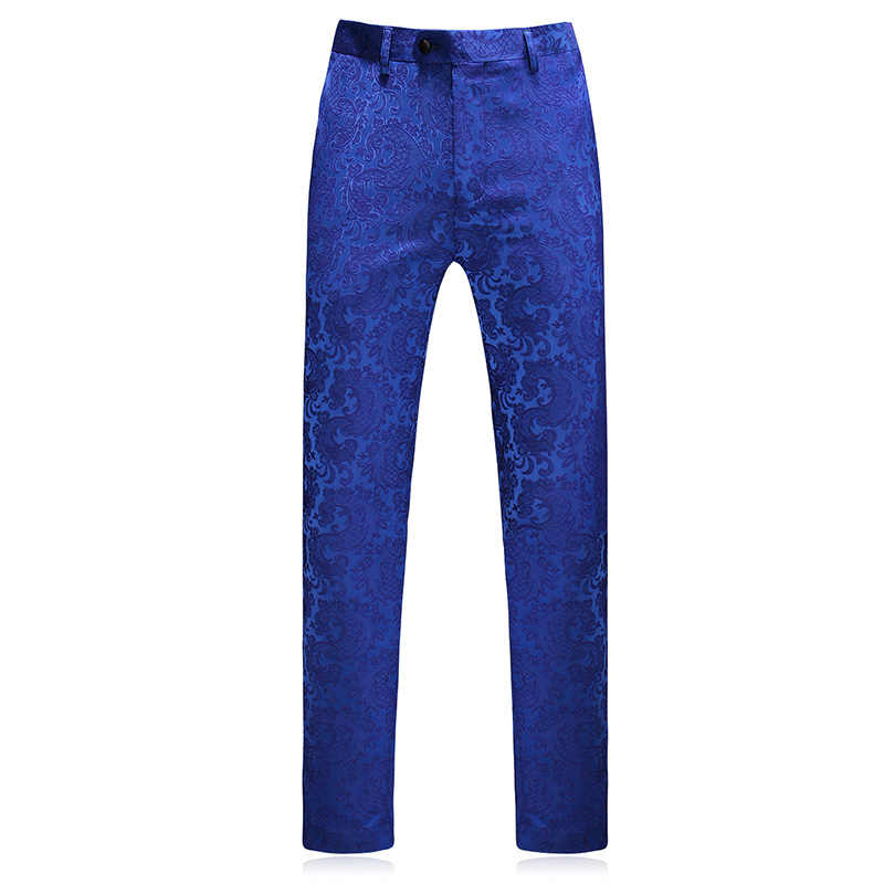 Classic Men Dress Pant Classic Blue Small Jacquard Men Suit Pants Size 29  30 31 32 38  40 Fashion Business Banquet Men Trousers