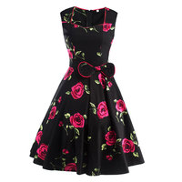 Summer Dresses Women Pinup Retro Robe Rockabilly 50s Vintage Dress Plus Size Sexy Cocktail Party Dress