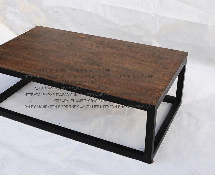 The Village Of Retro Furniture Clical Fashion Wood And Iron Table 100 Dining Living Room In Coffee Tables From