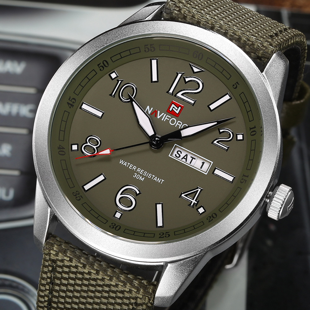 NAVIFORCE Sports Men Watch Army Military Mens Wristwatch Week Display Fashion Casual Camping Male Clock Saat Relogio Masculino(China)
