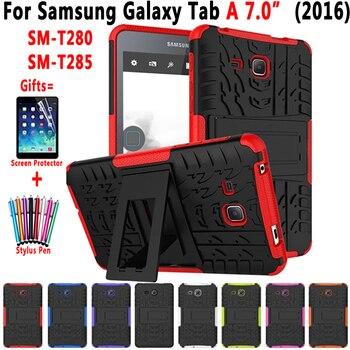 Гибридный армированный силиконовый чехол с подставкой для планшета Samsung Galaxy Tab A A6 7,0 дюйма 2016 дюйма T280 T285