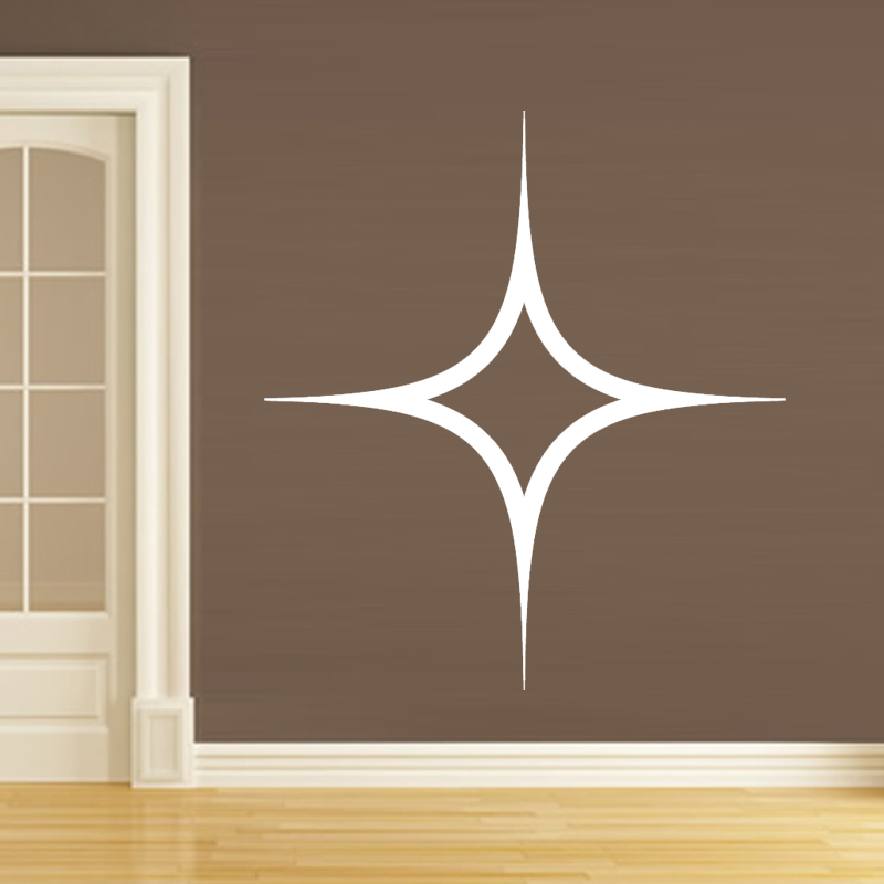 Simple Design Fashionable Twinkling Star Wall Sticker Home Decor Removable Hollow Out For Living Room And Bedroom