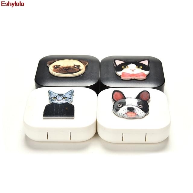 Eshylala-Dog Cat Pattern Contact Lens Care Holder Case Tweezers Mirror Lenses Storage Box 4  sc 1 st  AliExpress.com & Eshylala Dog Cat Pattern Contact Lens Care Holder Case Tweezers ...