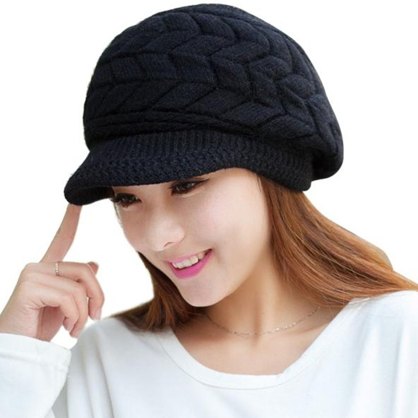 Fashion Women Hat Winter Skullies Beanies Knitted Hats Rabbit Fur Cap W35 Jun22 women cap skullies