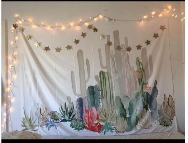 Drop Ship Cactus Plant Printed Tapestry Wall Hangings Boho Home Decor Wall  Tapestry Indian Table Cloth