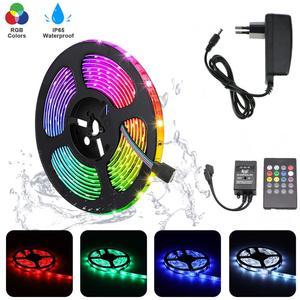 Image 2 - 1M 5M 10M 15M 5050 RGB LED Strip Sync To Music For Holiday Birthday Party Decoration DC 12V 150leds 300leds LED Rope Tape Ribbon