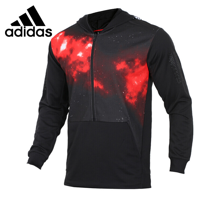 Original New Arrival 2018 Adidas NEO Label CNY HOODIE Men's Pullover Hoodies Sportswear side slit fleece drop shoulder pullover hoodie