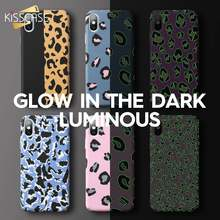 KISSCASE PC leopard Luminous Water Stickers Phone Case For Xiaomi mi 9/Play/mi 8 Lite Cases For Redmi Note 7 Fundas Capa Fashion(China)