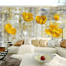 Custom 3D Wall Wallpaper European Style Retro Abstract Flower