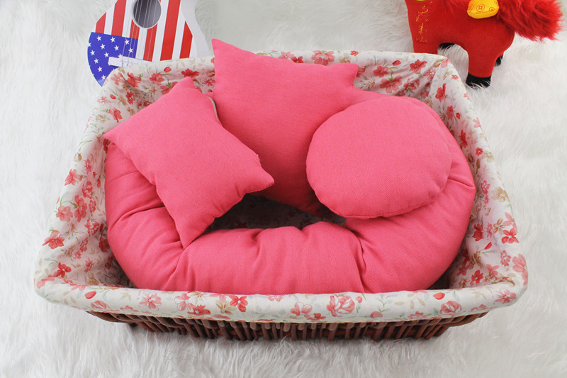 Newborn Photography Pillow Basket Filler 4PCS/Set Baby Wheat Donut Posing Props posing beanbag Studio Size