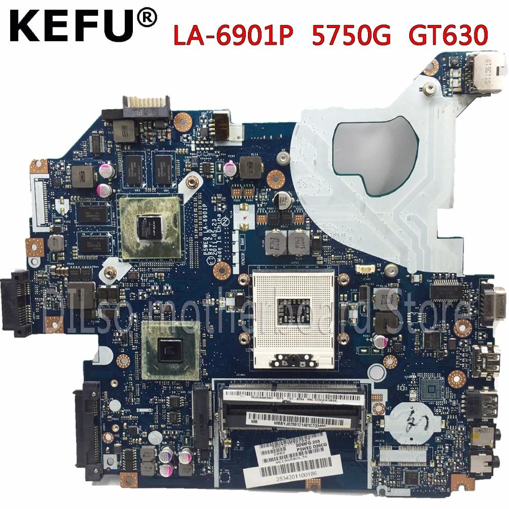 KEFU P5WE0 LA-6901P motherboard for acer 5750 5750G 5755 5755G laptop motherboard HM65 GT630M original tested motherboard nokotion laptop motherboard for acer aspire 5750 5750g mbrcg02006 p5we0 la 6901p mb rcg02 006 gt540m ddr3 mainboard