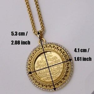 Image 2 - zkd AYATUL KURSI crystal Pendant necklace  islam muslim Arabic God Messager Gift  jewelry