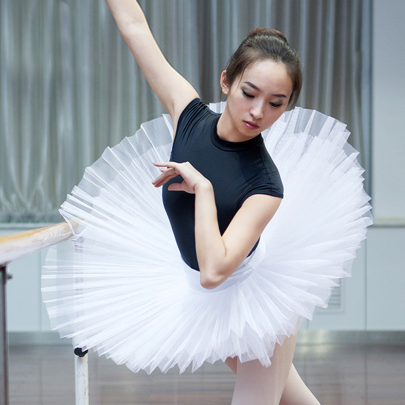 8b8e88e20 6 Layers New Adult Professional Ballet Tutu Hard Organdy Platter Skirt  Dance Dress for ladies/professional ballet tutu white-in Ballet from  Novelty ...