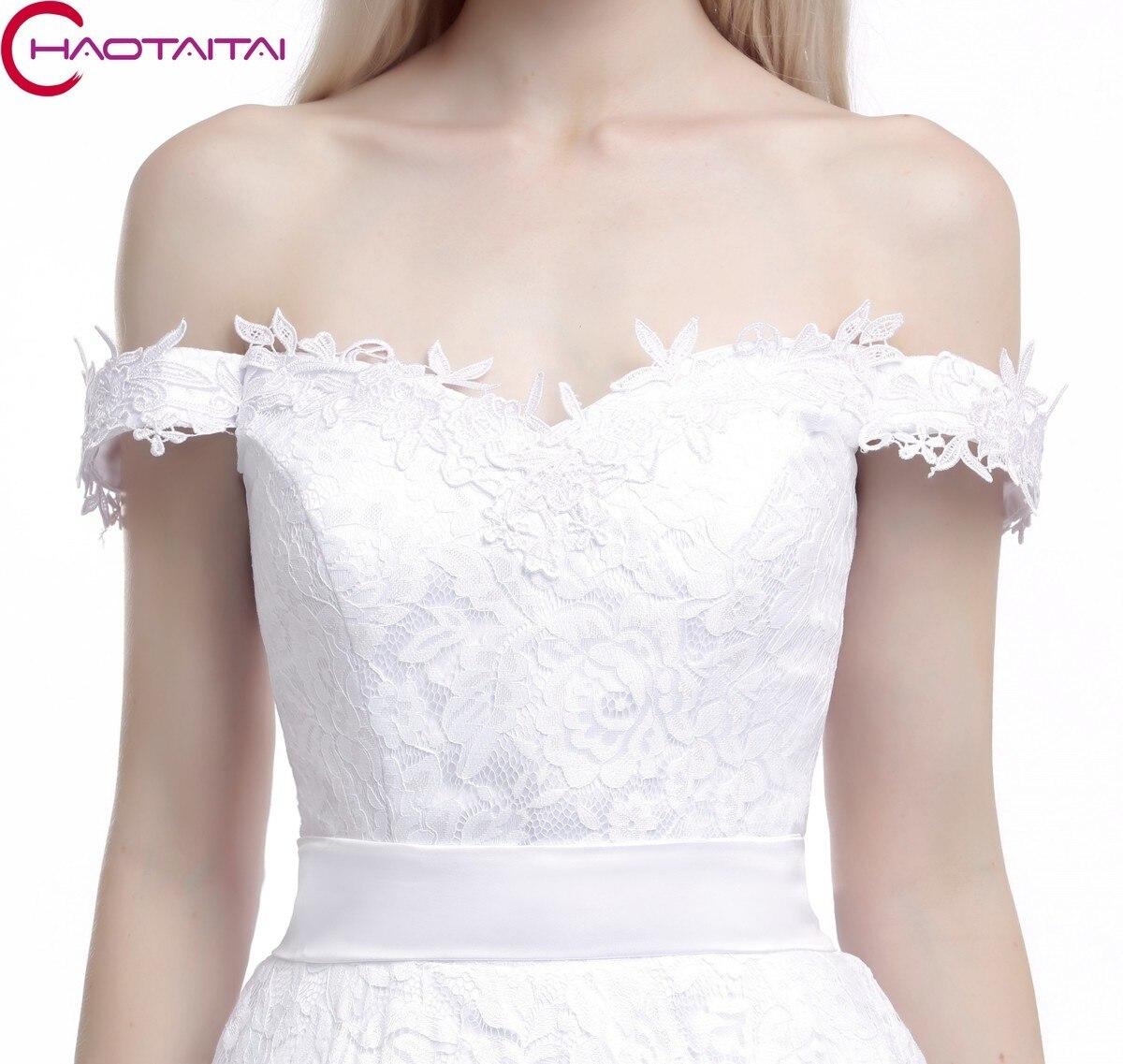 Hochzeitskleid Billig Spitze Vintage 2017 Sleeveless Short Eine ...