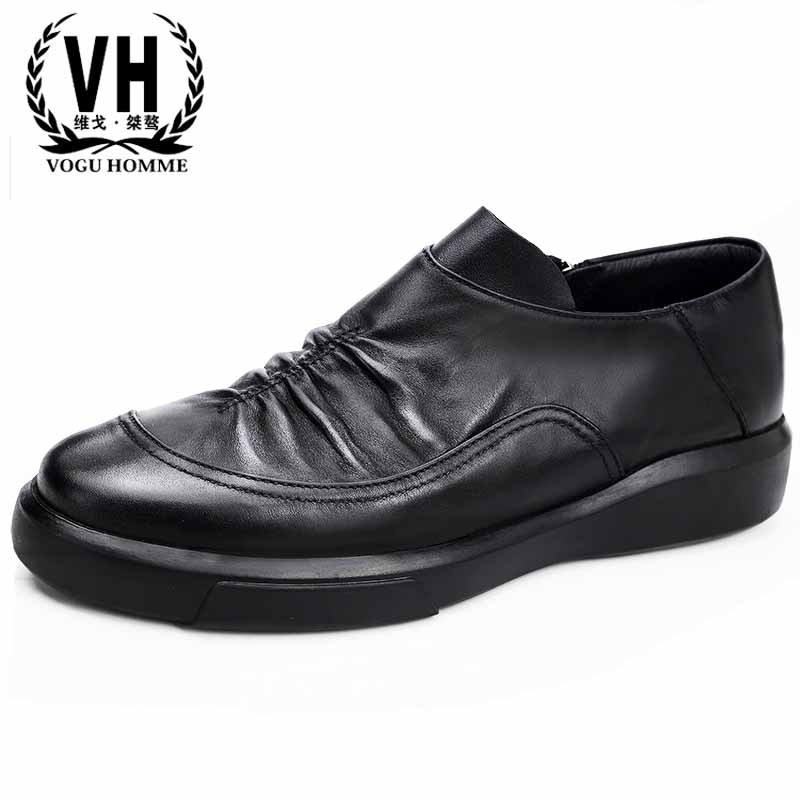 British real leather shoes men's business casual shoes all-match cowhide fashion youth men Leisure shoes retro spring autumn цена