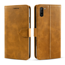 for Samsung Galaxy Note 10 Case Luxury PU Leather Flip Stand Wallet Case with Card Slot Magnetic Buckle for Samsung Note 10 plus стоимость