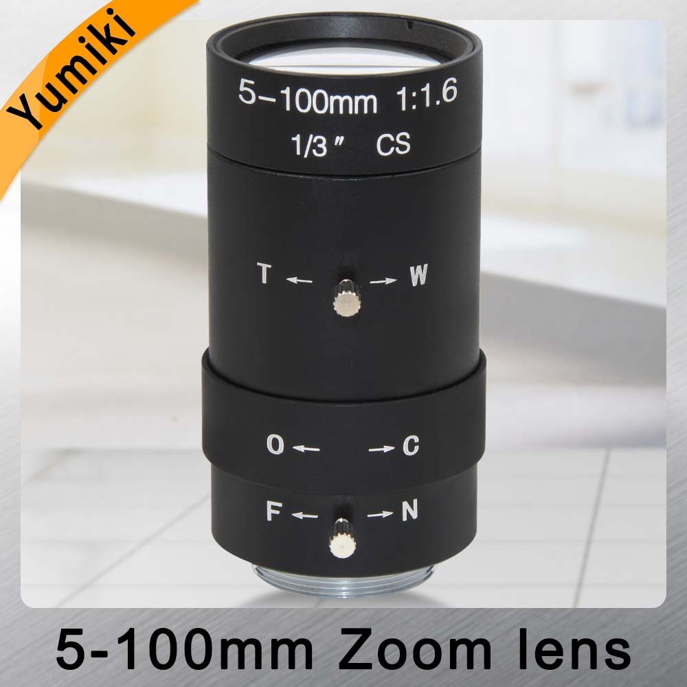 Yumiki 5-100mm Megapixel MP HD Manual Focus Manual Iris Vari-focal CMOS/ CCD SDI CVI CCTV Camera Lens 1/3 CCTV Lens CS Mount