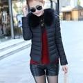 New Arrival Parkas Winter Outerwear Women Cotton Slim Short Fur Collar Warm Coat Jacket Female Snow Wear Brand M-XXL