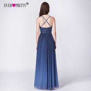 Image 4 - Robe de soiree 2019 ever pretty ep07468nb novo elegante a linha v pescoço sem costas longos vestidos de noite formais lantejoulas vestidos de festa