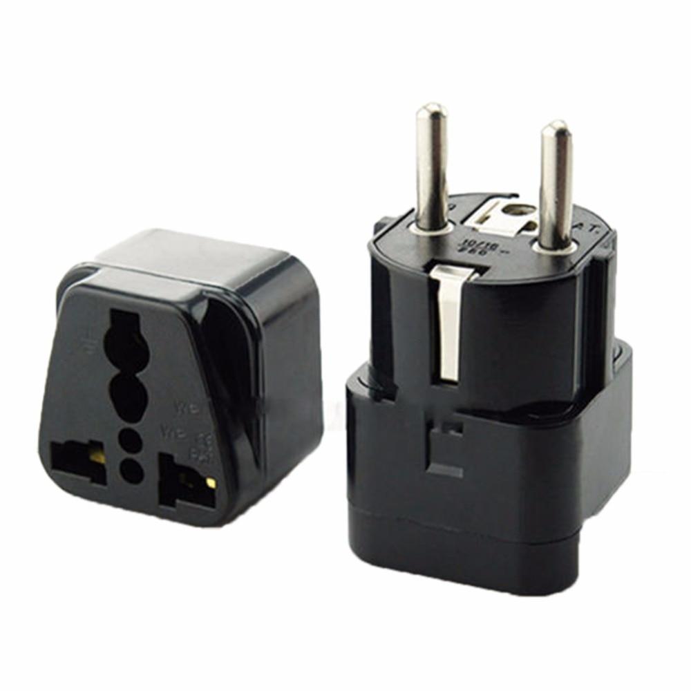 Us to uk ac power plug white black travel wall adapter plug converter - Multifunction Universal Au Uk Us To Eu Ac Power Socket Plug Travel Charger Adapter Converter European
