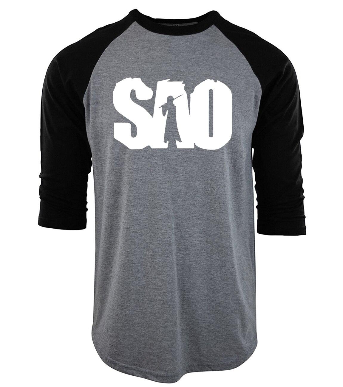 Sword art online sao anime t shirt fashion 2017 cotton for Mens t shirt online
