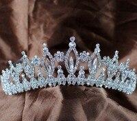 Sparkling Vintage Tiaras Diadem Wedding Bridal Crowns Handmade Clear Austrian Rhinestones Crystal Headband Hair Accessories