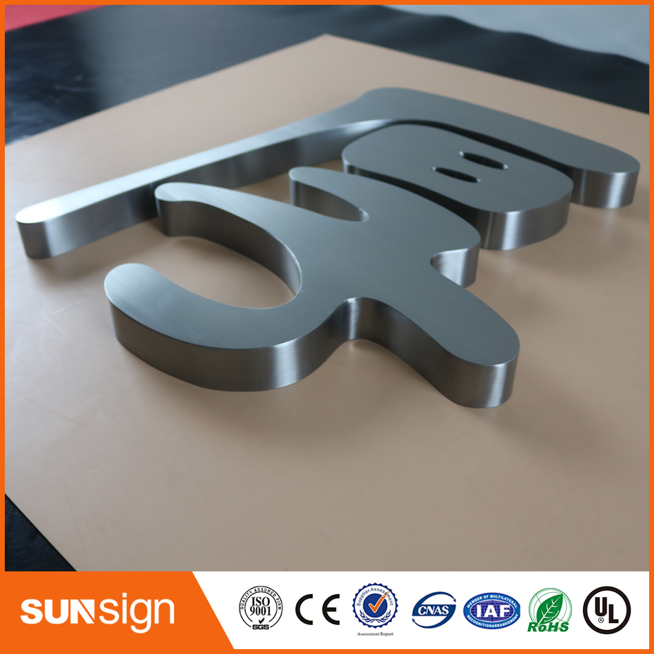 Casting Craftsman Customized Waterproof Stainless Steel/acrylic 3D Backlit Sign Letters