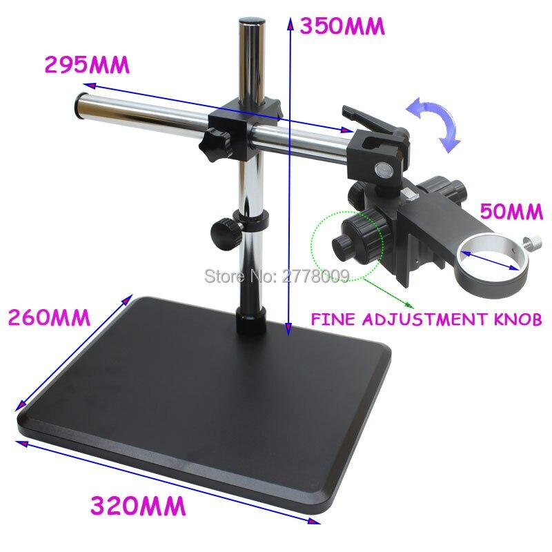 Lentille de caméra de Microscope industriel porte-anneau de mise au point 50mm support de réglage fin 360 degrés Angle de réglage de Rotation libre