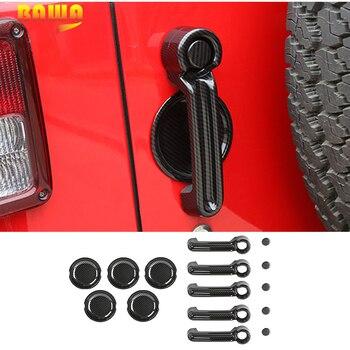 BAWA 4 Door Car Door Handles Bowl Stickers Kit for Jeep Wrangler JK 2007-2017 ABS Car Exterior Accessories Stickers