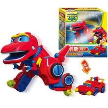 Mais novo Min Gogo Dino ABS Deformação Carro/Avião Figuras de Ação REX/PING/VIKI/Transformação TOMO Dinossauro brinquedos para Crianças Presente