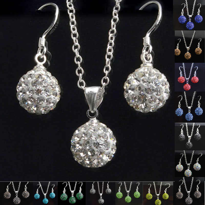 Jewelry sets Earrings Brincos Earing Online Shopping India Pendientes Mujer For Women Brinco necklace set Crystal Stud orbellen