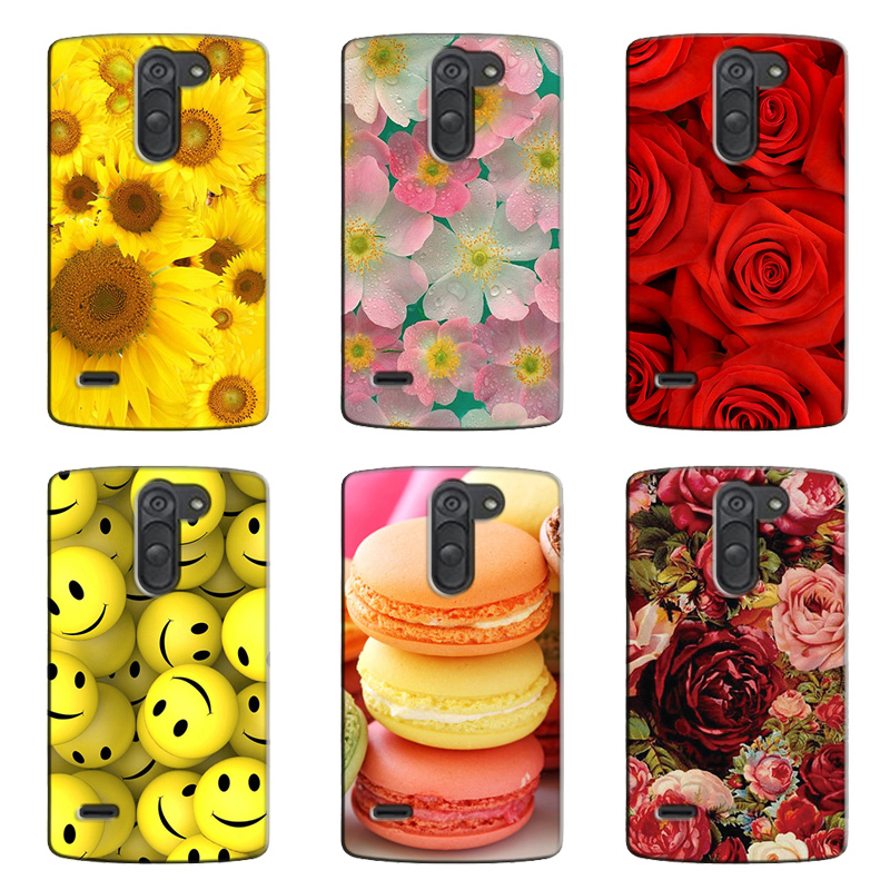 2017 New mobile phone case for LG D690N D690 Rose Flower painted hard shell for LG G3 Stylus D690N D690 mobile phone bag