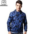 2016 Spring Autumn New Thin Influx Young Men Jacket Fashion Camouflage Printing Casual Hooded Uniform Jackets M395