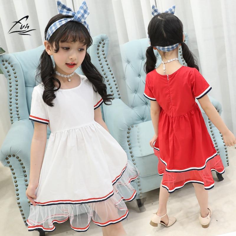 Buy Cheap FHY Kids Clothing Newest Summer Baby Kid Girls Short Sleeved Dress Gauze Sequins Dress Summer Party Tutu Dresses Princess Dress