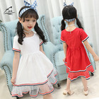 Cheap FHY Kids Clothing Newest Summer Baby Kid Girls Short Sleeved Dress Gauze Sequins Dress Summer Party Tutu Dresses Princess Dress