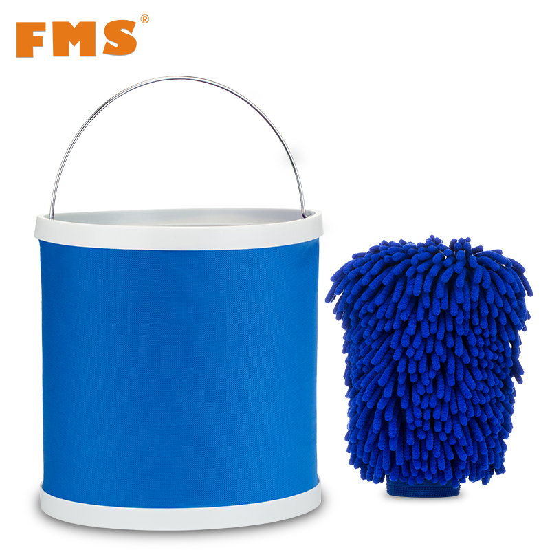 fontb1-b-font-set-folding-bucket-car-wash-detail-glove-blue-bucket-outdoor-portable-retractable-wash
