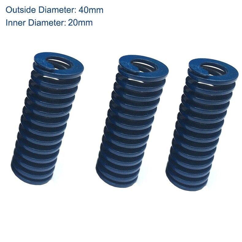 TL 40mm OD 20mm ID 200mm 250mm 300mm Long bleu lumière cylindre de charge 65Mn métal acier spirale estampage Compression moule Die printemps