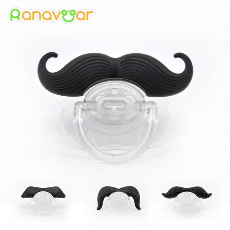 Mode Roliga Dummy Dummies Pacifier Nyhet Moustache Babys Barn Soother Bärnipplar Barn Gift Safe Pacifier PAC002