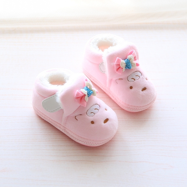 2016 1 baby shoes winter warm shoes comfortable toddler plus velvet cotton-padded shoes 0 - 6 - 12 months old