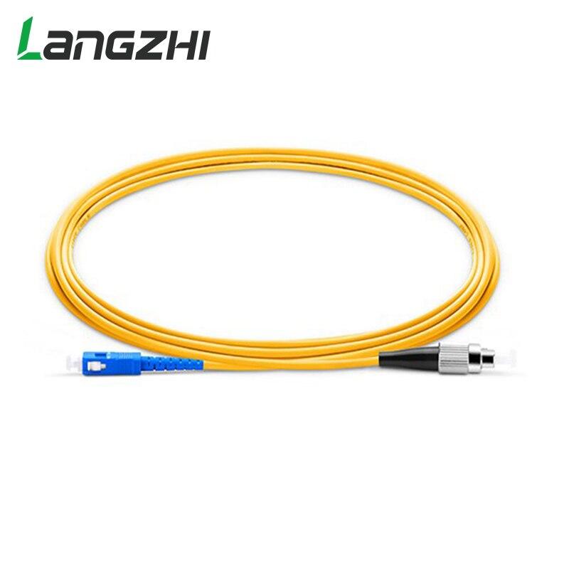 10 pces fc upc para sc upc simplex 2.0mm 3.0mm pvc único modo fibra cabo de remendo cabo de fibra em ponte fibra optica ftth