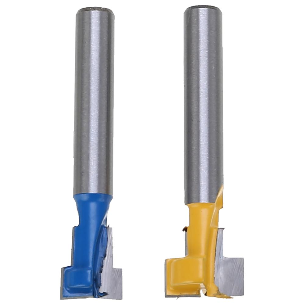 """NEW 1//4/"""" Shank Keyhole T-Slot Woodworking Cutter Router Bit 3//8/"""" /& 1//2/"""" for Wood"""