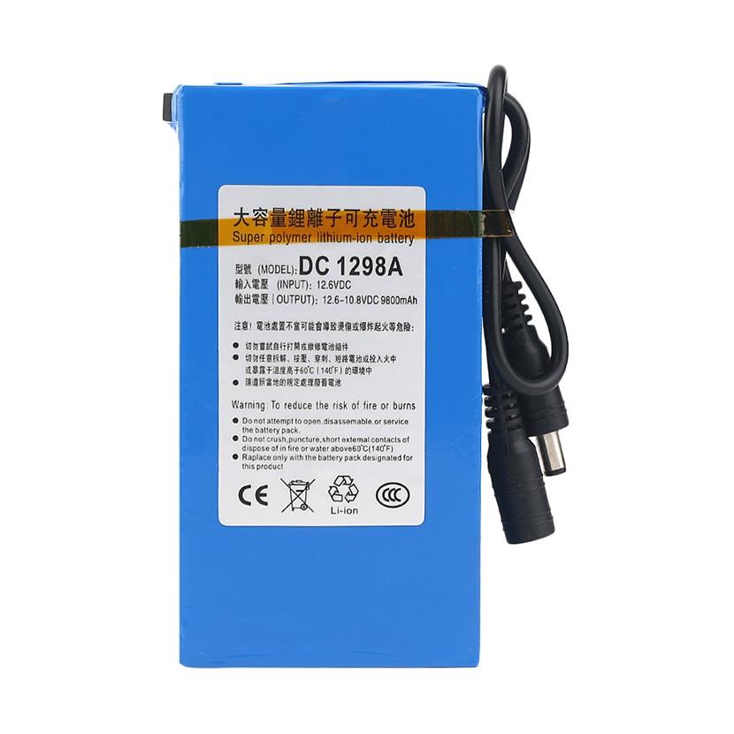 все цены на Cncool Durable DC 12V 9800MAH High Capacity Super Powerful Rechargeable Battery Backup Li-ion Battery For Camera Accmulators