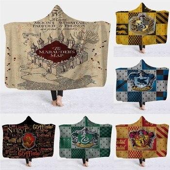 3D Harry Potter College Flag Hooded Blanket 1