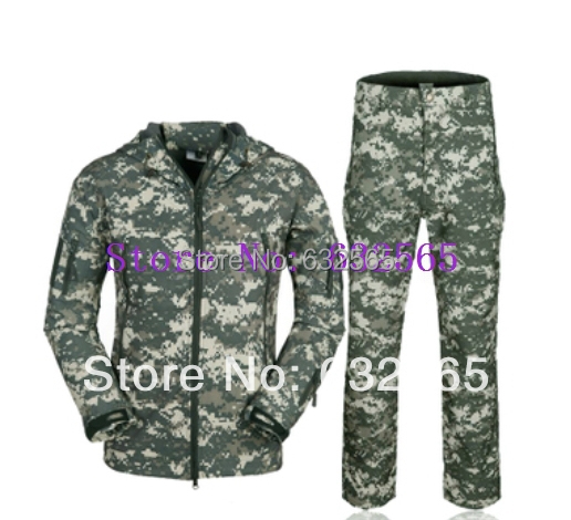 ФОТО Hunting Clothing set TAD softshell Military Outdoors Jacket Army Coat multicam Camping Jackets Jacket+Pants Suit