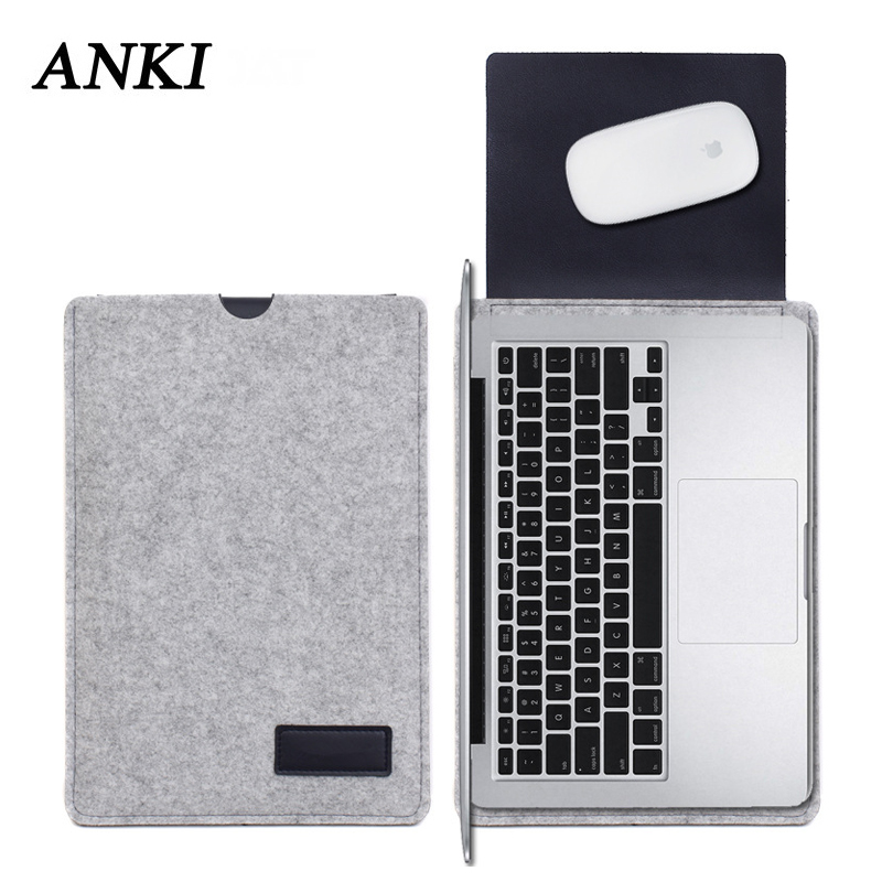 2019 Fashion Felt Laptop Sleeve Bag For Macbook Air 13 Case Pro Retina 11 12 New 15 Touch Bar Cover For Xiaomi Mi Notebook 15.6
