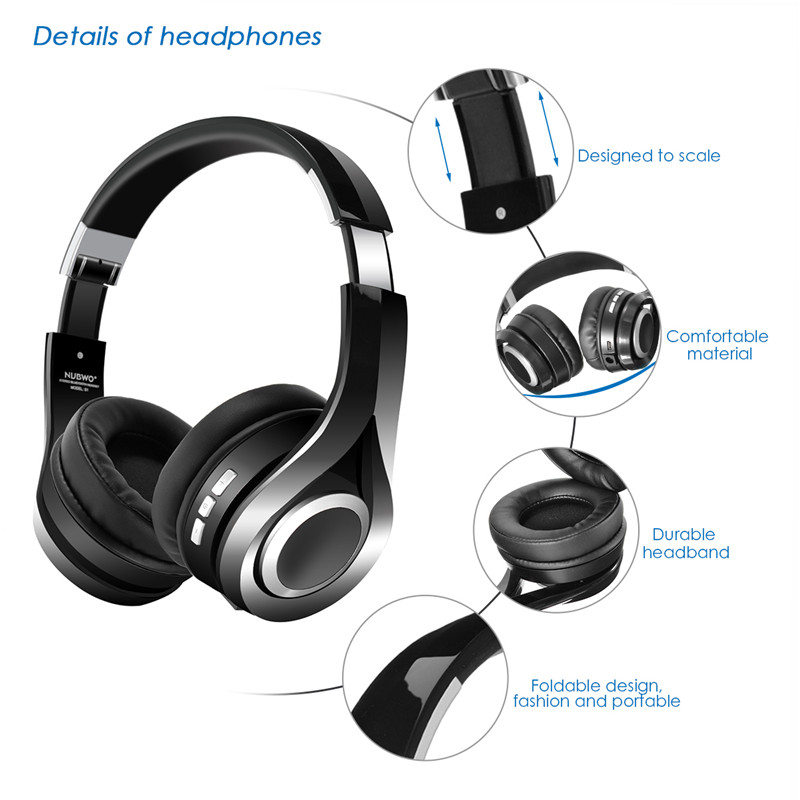 58ea6ab165f NUBWO S1 Bluetooth 4.1 Wireless Headphones Stereo Deep Bass Foldable Headset  with Microphone Over Ear APT X Support Headsets-in Bluetooth Earphones ...