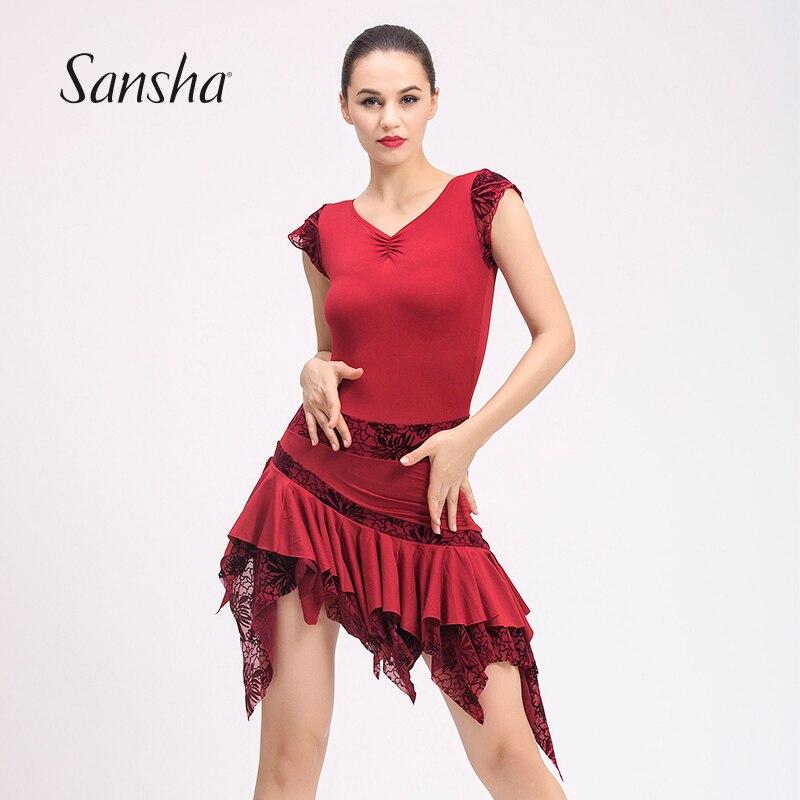 89c3b8927 Sansha 2017 New Latin Salso Tango Ballroom Dancing Dress Asymmetry Design  Dancewear Skirt 53AG0004T on Aliexpress.com   Alibaba Group