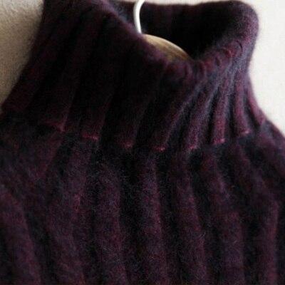 Mink sweater female pure marten velvet mink sweater turtleneck thickening basic shirt slim cashmere sweater short