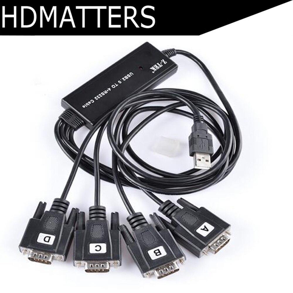 4 ports USB vers câble série 2.0 USB vers série 4X RS232 convertisseur de répartiteur de câble ZE552A (Chipset FTDI + win 10 pris en charge) on AliExpress - 11.11_Double 11_Singles' Day 1