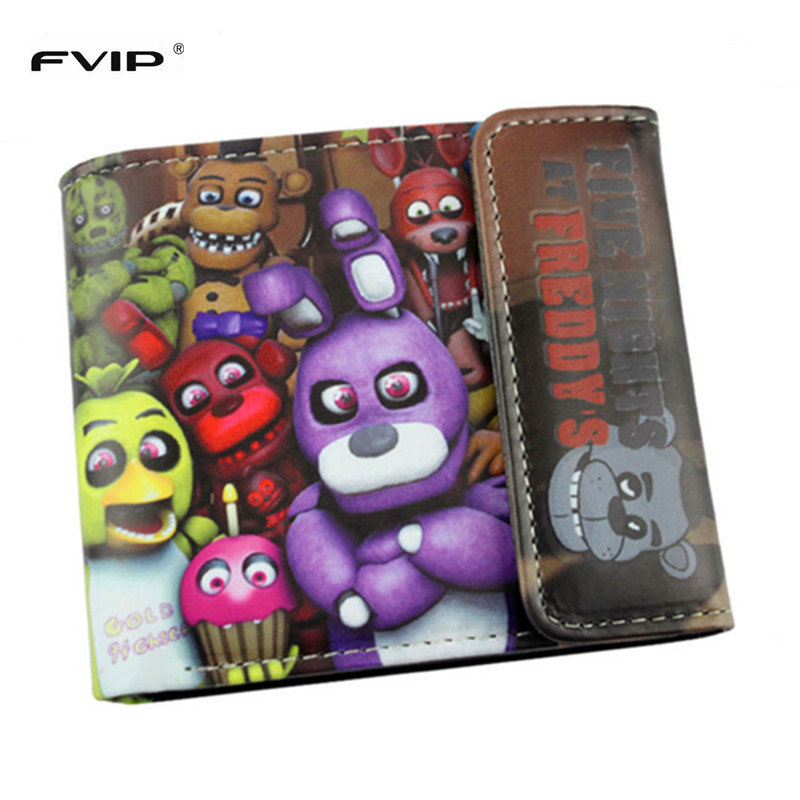 FVIP Anime Cartoon HASP Open Three Flod Wallet  Five Nights At Freddy`s /Doctor Strange /Suicide Squad Wallets For Young i rocks im5 dk usb 2 0 wired 3500dpi optical gaming mouse black red